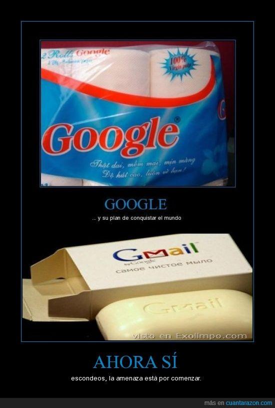 Google,Jabon,Papel Higiénico