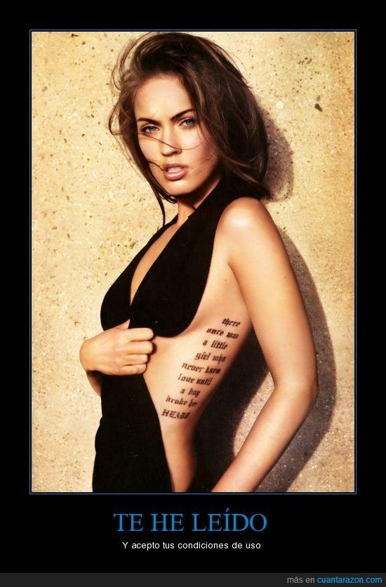 megan fox,mujer,tatuaje