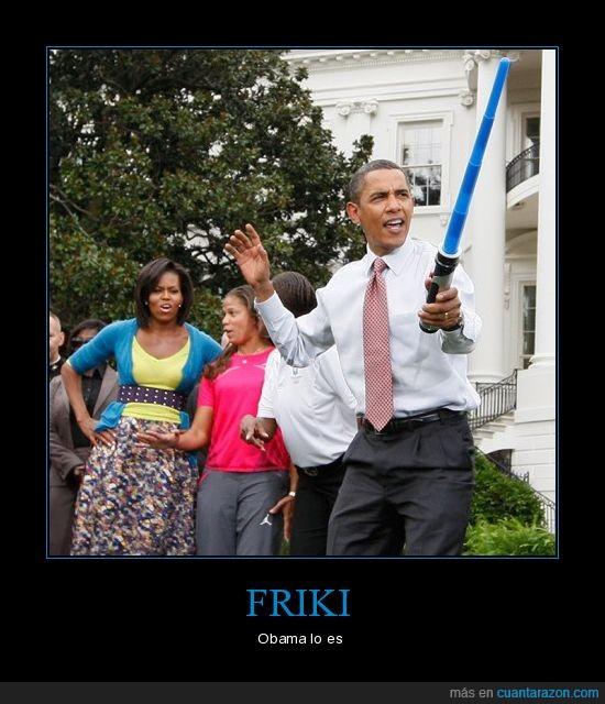 espada,friki,laser,obama