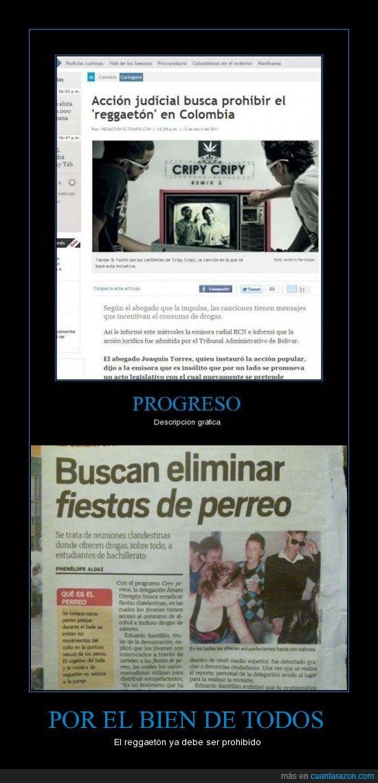 Colombia,mierda,perreo,progreso,prohibido,reggaetón