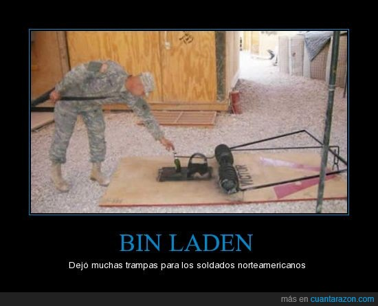 bin laden,norteamerica,soldado,trampa