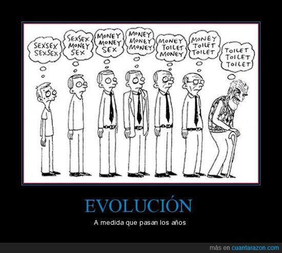 evolución,money,sex,toilet
