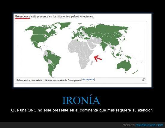 africa,greenpeace,ironia,mapa