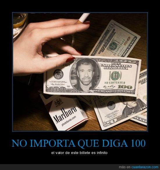 Billete,Chuck Norris,dolar,infinito,Mano