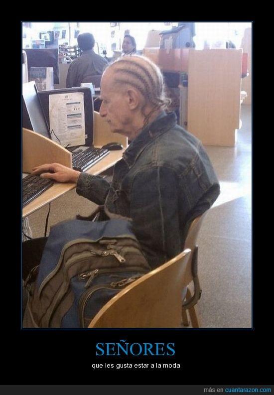 anciano,peinado,Señores