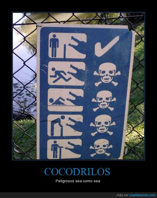 cocodrilos,muerte,peligro,señal
