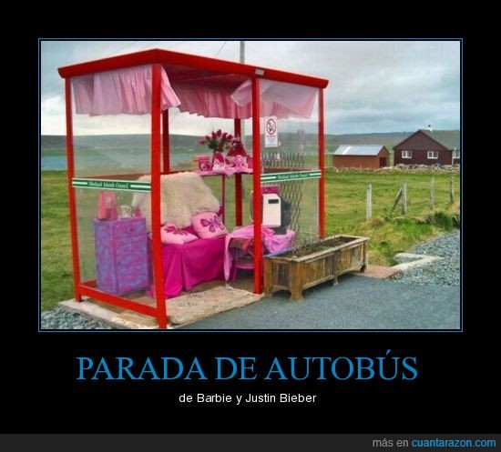 autobús,barbie,bieber,justin,parada,pijo,rosa