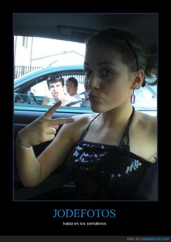 chica,coche,jodefotos,semáforo