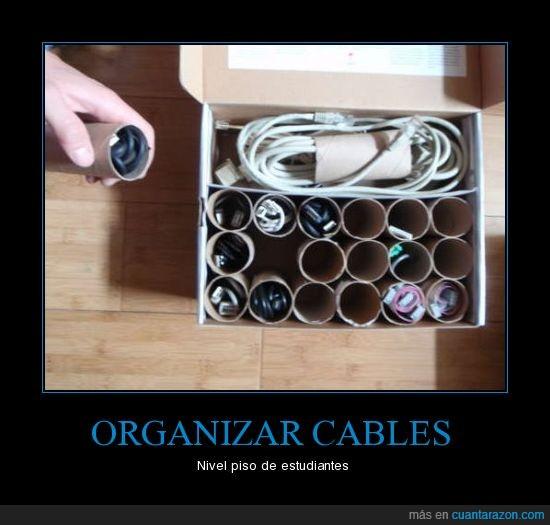 cables,organizar,Papel higienico