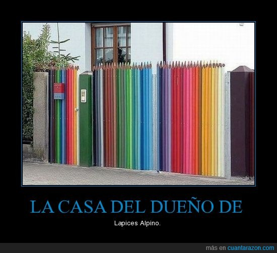 alpino,casa,colores,lapices