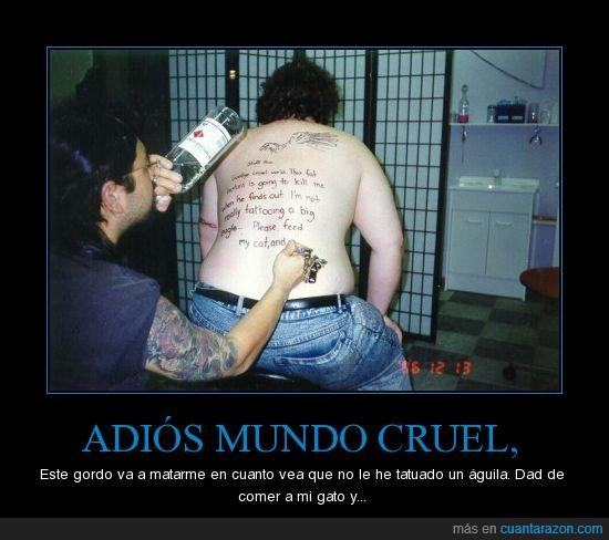 Bebida,Gordo,Suicidio,Tatuaje