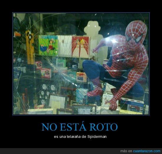 cristal roto,Ferrol,spiderman