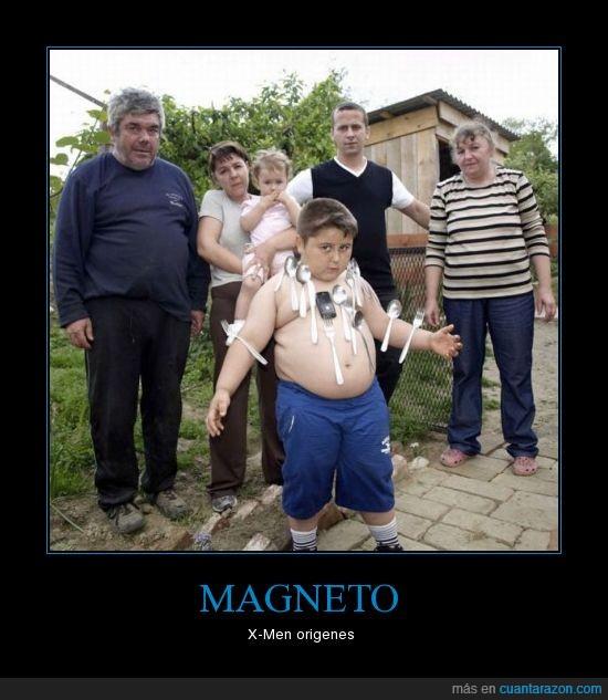 familia,friki,gordo,magneto,metal,Niño