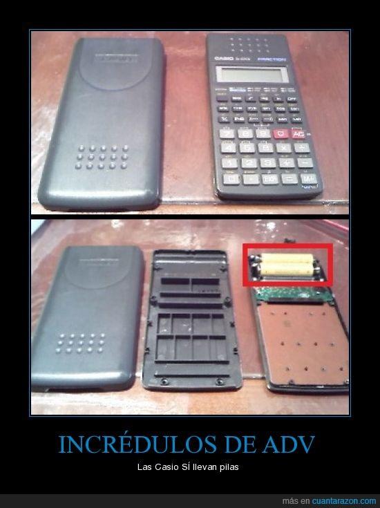 calculadora,casio,pilas