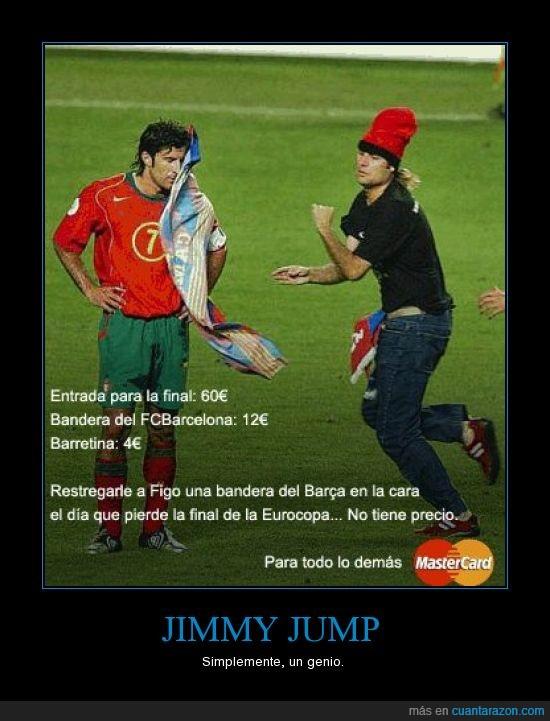 bandera,barça,eurocopa,figo,figura,Jimmy Jump,traidor