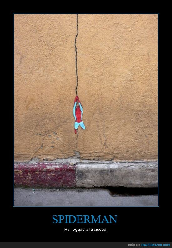 distorsion urbana,graffiti,spiderman