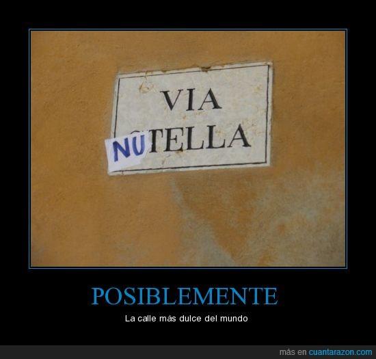 calle,Italia,nutella,Verona