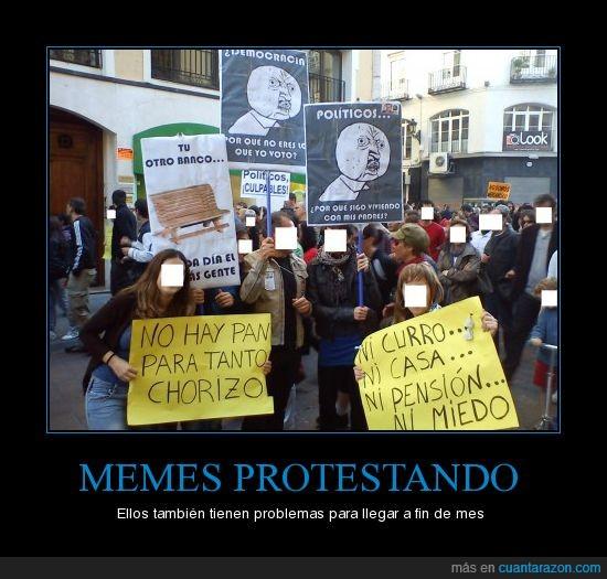 15m,manifestación,memes,y u no,zaragoza