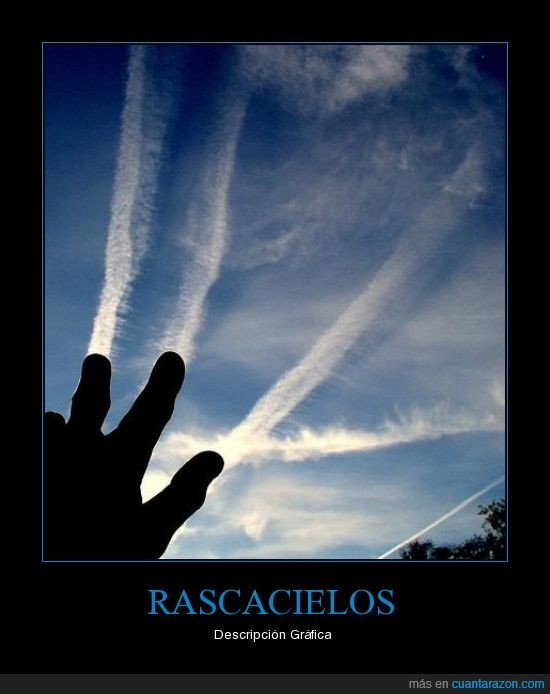 avión,cielo,dedos,humo,rascar