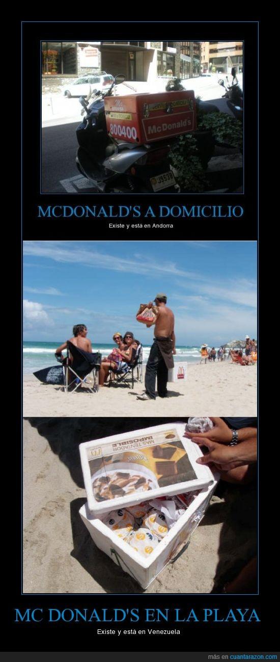 mcdonalds,playa,venezuela