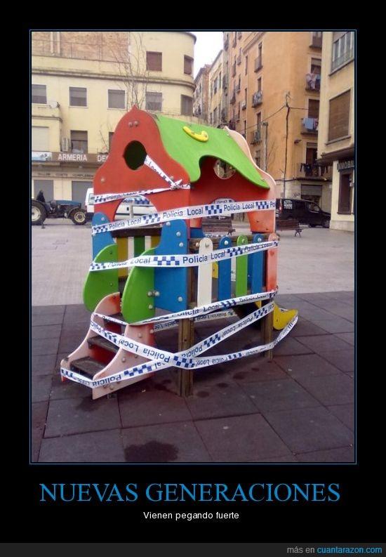 niños,parque,Policia,Tortosa