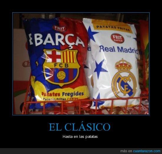 Barça,Barcelona,Clásico,Madrid,patatas,Real Madrid