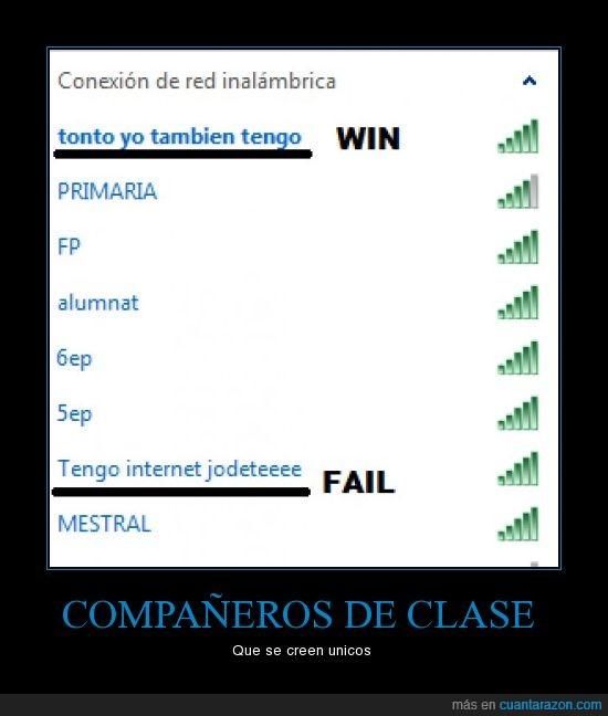 clase,conexión,fail,win