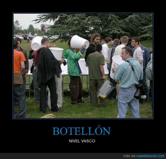 botellon,enormes,vasco,vasos