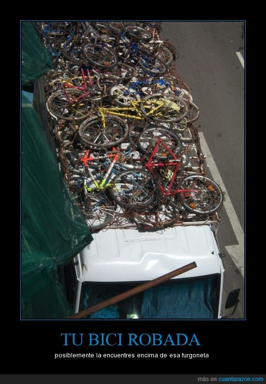 bicicletas,furgoneta,robo