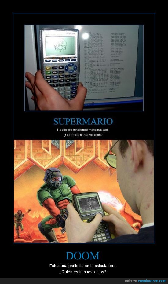 calculadora,dios,doom,super mario