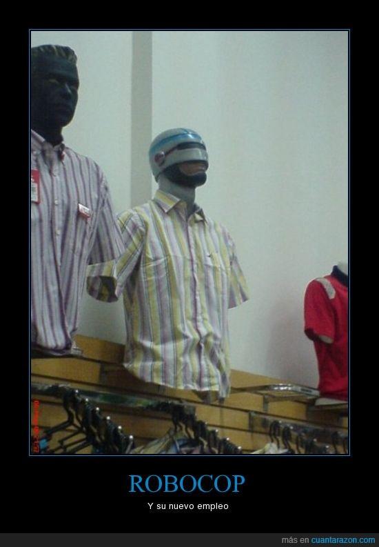 casco,maniquí,mascara,robocop,ropa,tienda