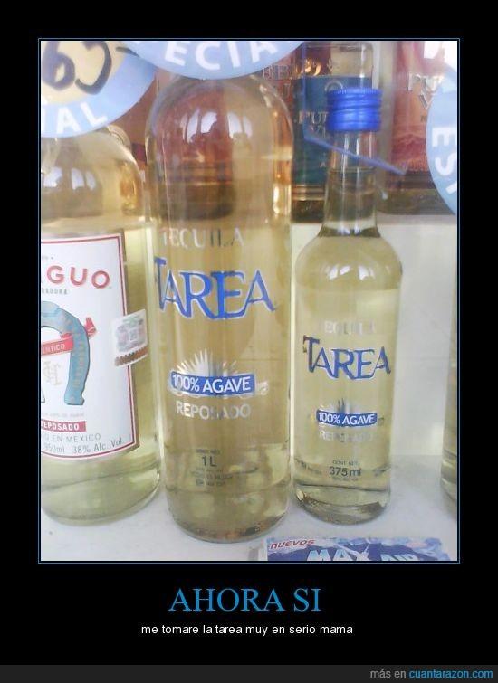 alcohol,bebida,botella,deberes,TAREA,Tequila