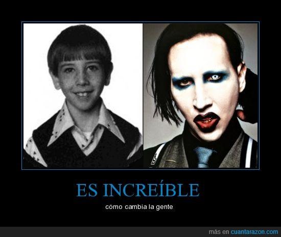 cambia,gente,increible,Marilyn Manson