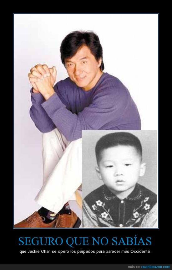 Jackie Chan,no,operar,parpados,que,sabias,seguro