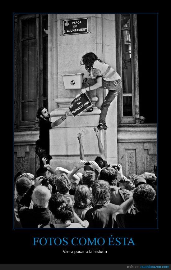 cartel,Democracia,manifestaciones,real,revolución