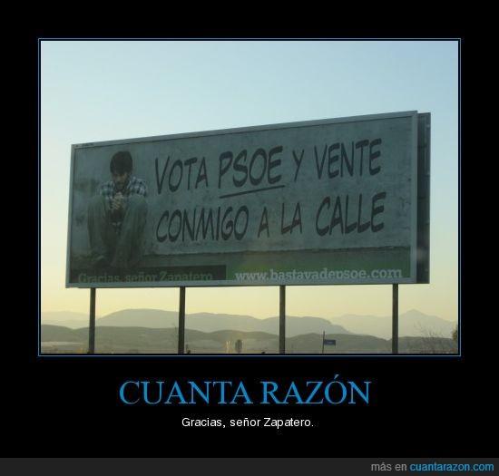 Calle,PSOE,Vota,Zapatero