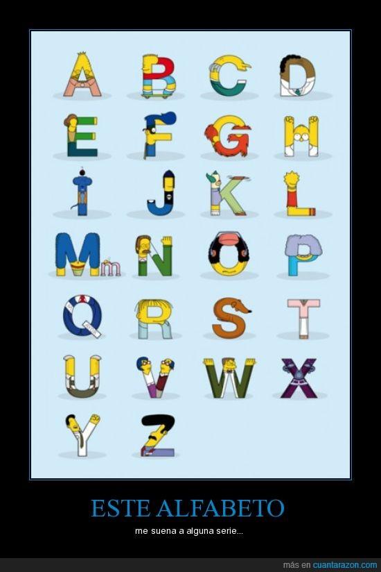 alfabeto,homer,simpson,springfield