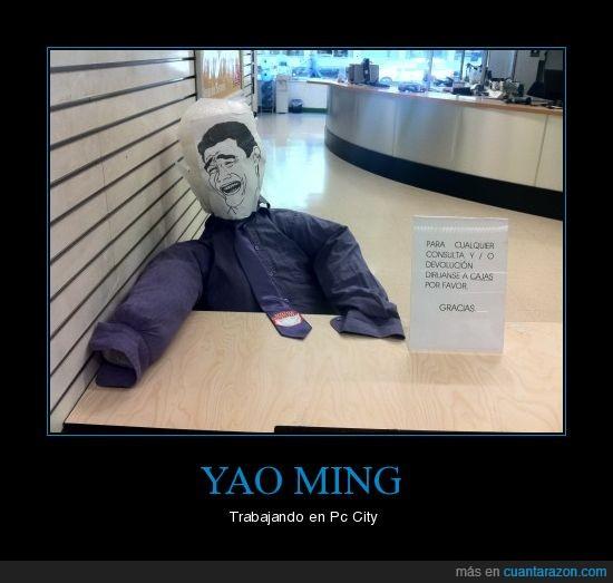 meme,muñeco,pc city,trabajar,yao ming