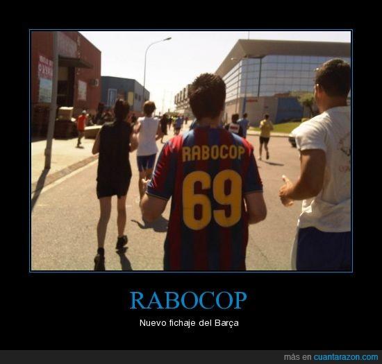 69,Barça,camiseta,Cursa del Dimoni,FC Barcelona,Futbol,Rabocop