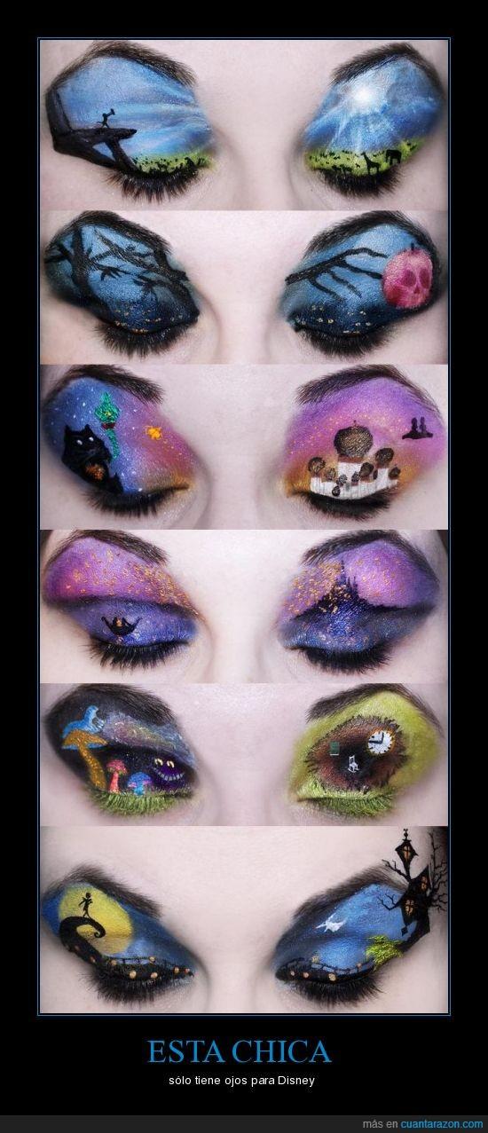 Disney,maquillaje,ojos