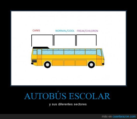Autobus,Bus,Canis,Cool,Escolar,Frikis,Sectores