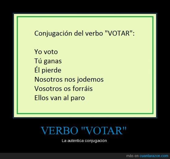 forrar,ganar,joder,paro,perder,verbo,votar