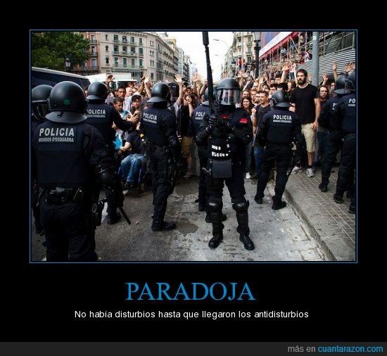 barcelona,disturbios,disturios,paradoja,protesta