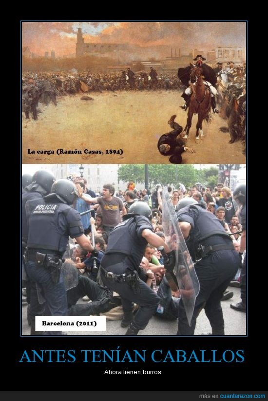 Barcelona,burro,burros,caballo,manifestación,Ramón Casas