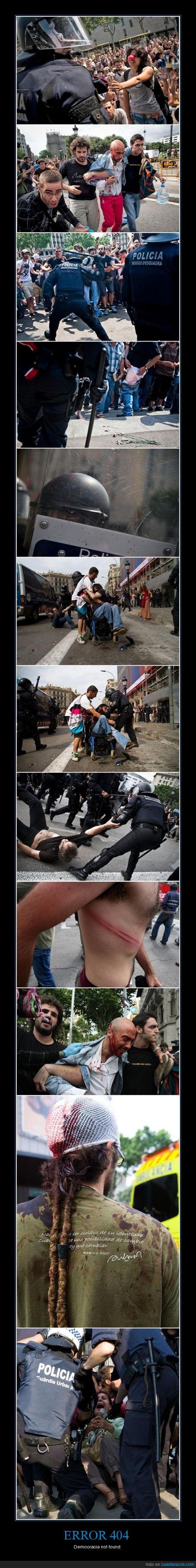democracia,error,mossos,resistencia pacifica