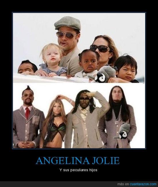 angelina jolie,black eyed peas,hijos