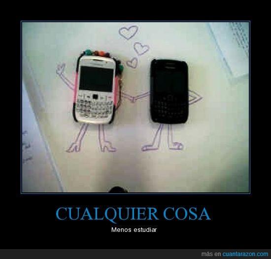 blackberry,estudiar,examen,móvil