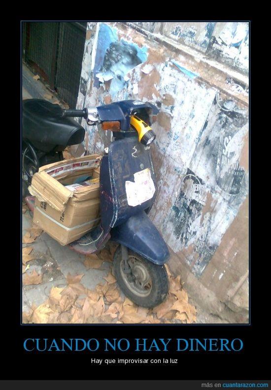 caja,linterna,luz,moto