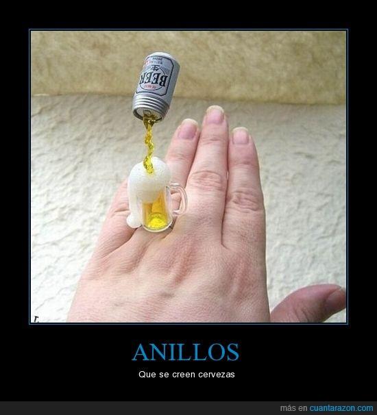 anillo,cerveza
