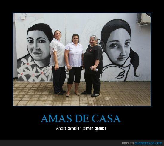 Amas de casa,Arte,Graffitis,Pintura,Señoras